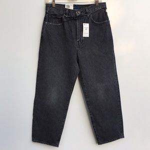 NWT Levi's Barrel Crop High Waist Jeans Black 27